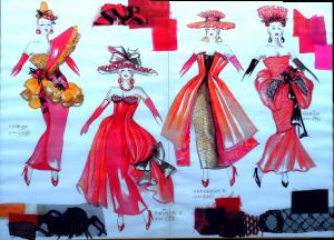 4 Damen Balett Ninotschka 300x216 - Kunstgalerie