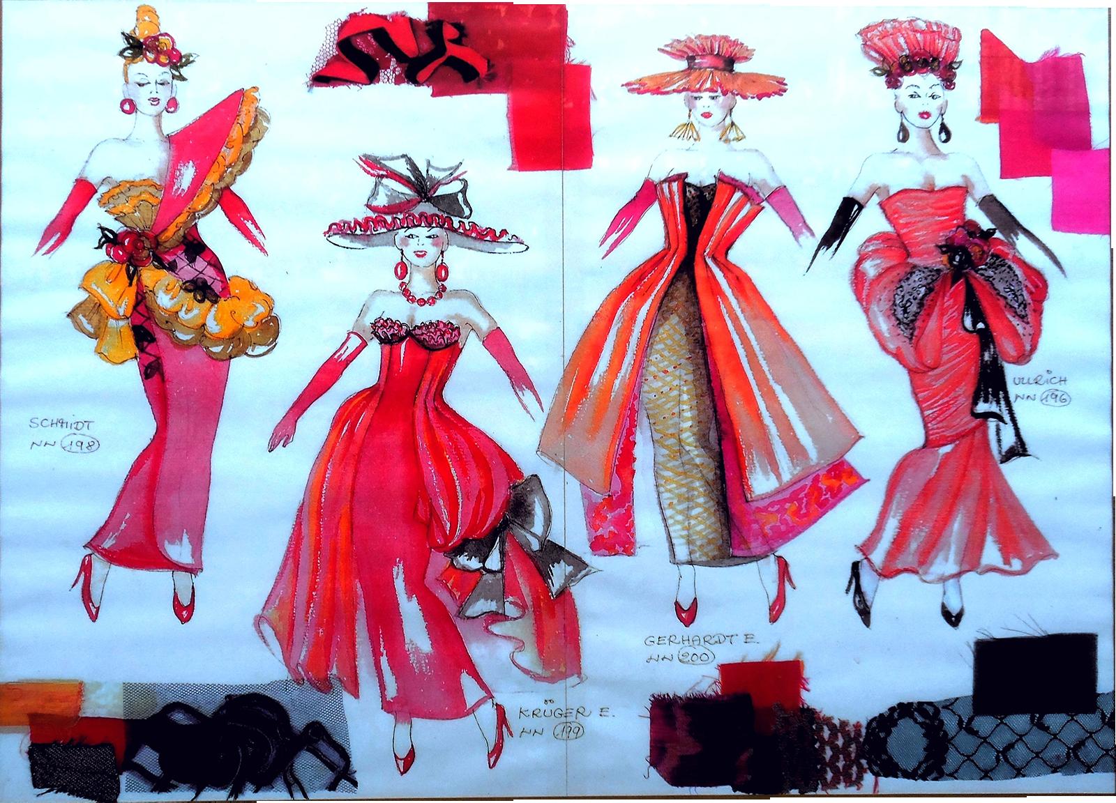 4 Damen Balett Ninotschka 4000x2500 - Kunstgalerie