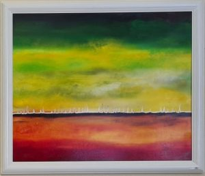 gruen rot horizont 300x258 - Kunstgalerie
